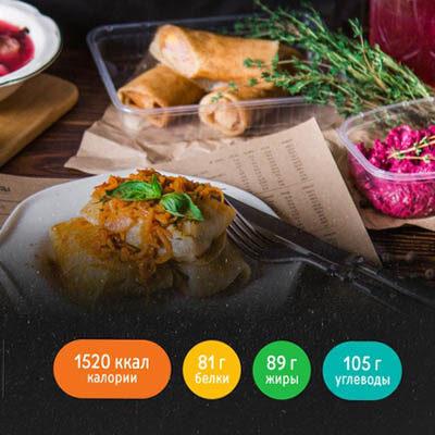 Меню 1500 ккал от «Право еды»